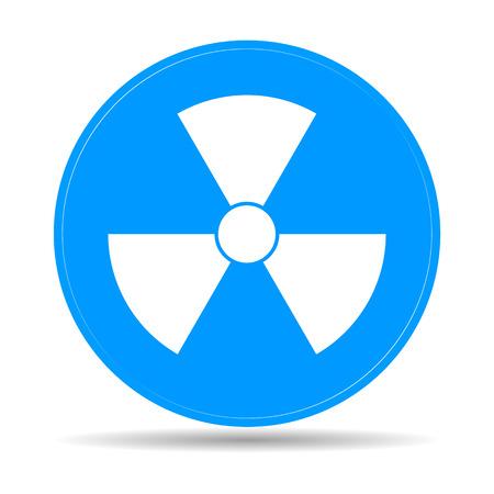 plutonium: radiation symbol. Flat vector illustrator Eps 10 Illustration