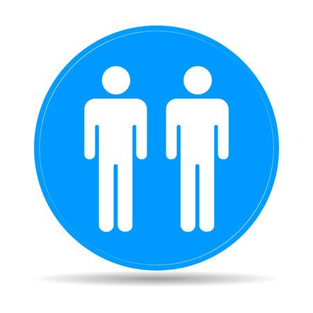 urban planning: couple icon,. Flat vector illustrator Eps 10