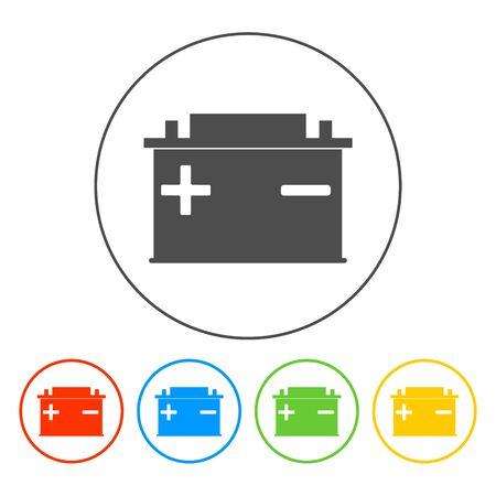 Autobatterie-Vektor-Symbol. Wohnung EPS