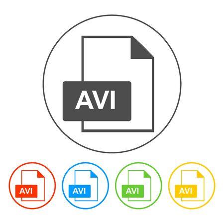 avi: avi file icon. Flat vector illustrator Eps 10 Illustration