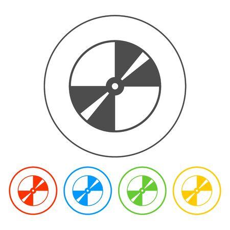 dvd rom: Vector CD or DVD icon. Flat vector illustrator Eps 10 Illustration
