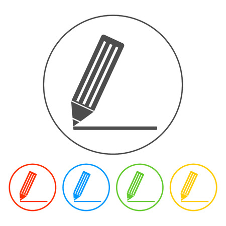Flat  icon of notes.  vector illustrator Eps Vector