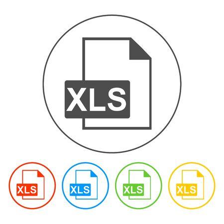 xls: xls icon. Flat vector illustrator Eps 10