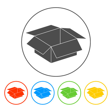 box illustration. Flat vector Illustrator EPS 10