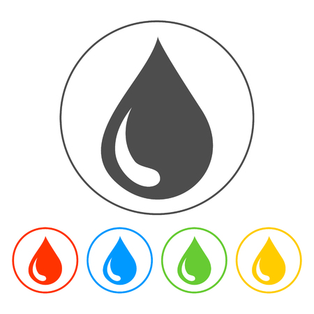 water icon, flat vector illustration. design EPS 10 Vector