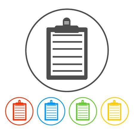 Personal organizer- to do list. Vector icon illustrator Vector