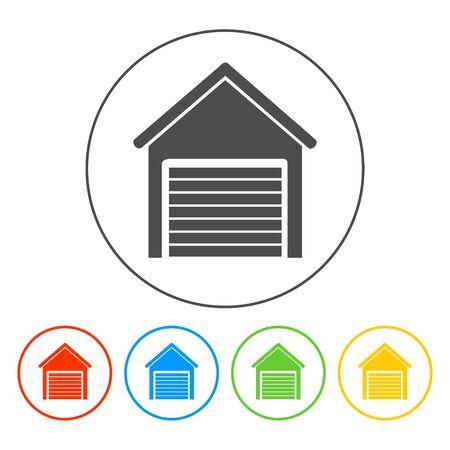 Garage icon. Flat vector illustrator EPS 10