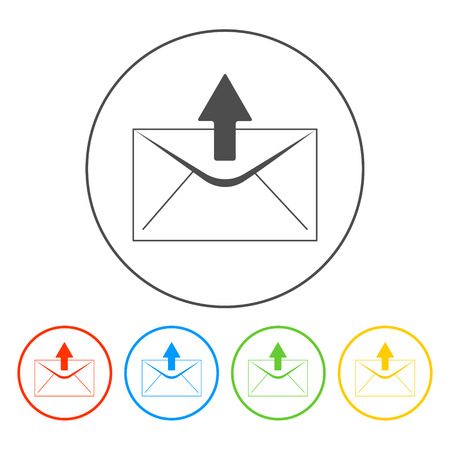 envelope mail symbol on white background. Vector Vector