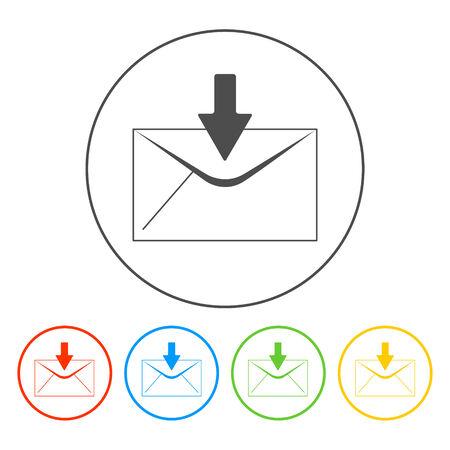 envelope mail symbol on white background. Vector Vector
