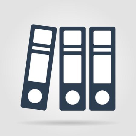 Flat Folder icon. Vector illustrator EPS 10 Vector