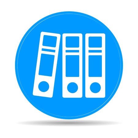 Flat Folder icon. Vector illustrator EPS 10