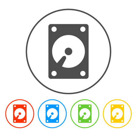 harddrive: hard disk icon. Vector illustrator EPS 10