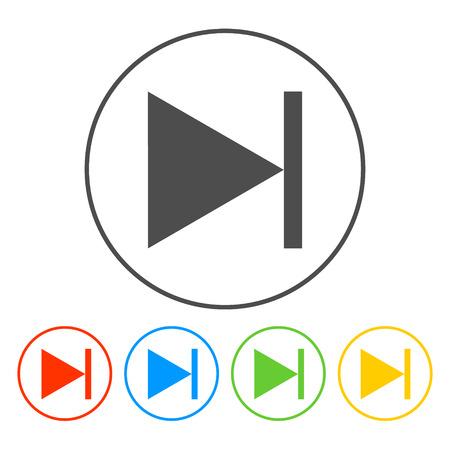 Glossy multimedia icon  next track vector EPS Vector