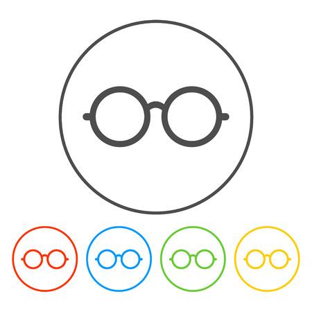 Lunettes icône. Appartement vecteur EPS Illustrator 10 Banque d'images - 35660856