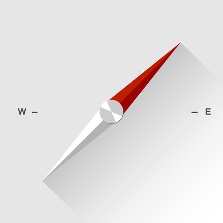 フラット スタイルのシャドウと抽象的なベクトルのコンパス アイコン 写真素材 - 35660902
