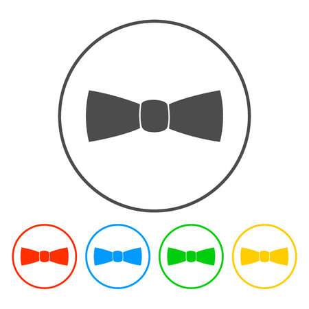 official wear: Bow tie, icon vector. Illustrator EPS 10 Illustration