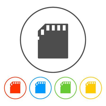 cf: Micro SD card. Vector illustratore