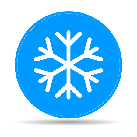 lightweight ornaments: Snowflake flat icon. Vector illustration