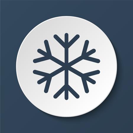 lightweight ornaments: Snowflake flat icon. Vector illustration