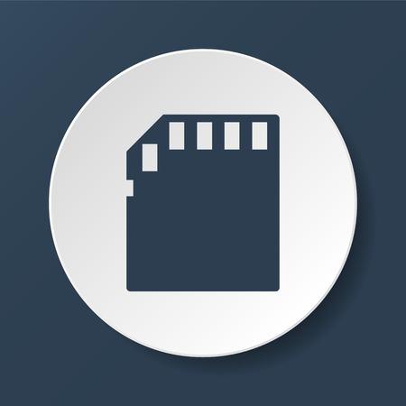 sd: Micro sd card. Vector illustrator