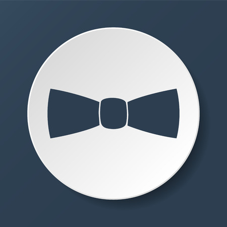 official wear: Bow tie, icon vector. Illustrator Illustration