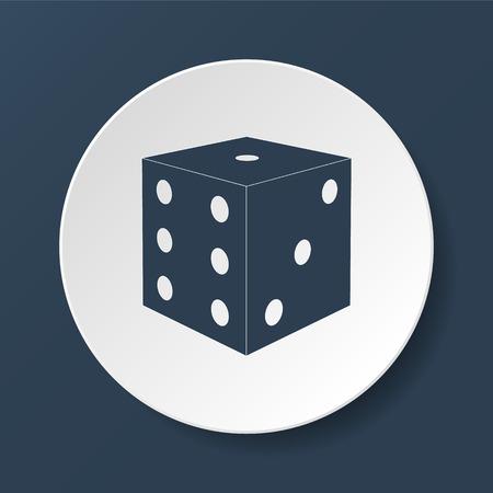 illustraton: Dices sign icon. Casino game symbol. Flat illustraton