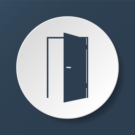 ドアのアイコン。フラットのベクトルのイラストレーター