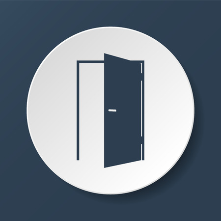 Door icon. Flat vector illustrator  Çizim