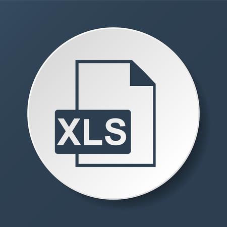 xls: xls icon. Flat vector illustrator