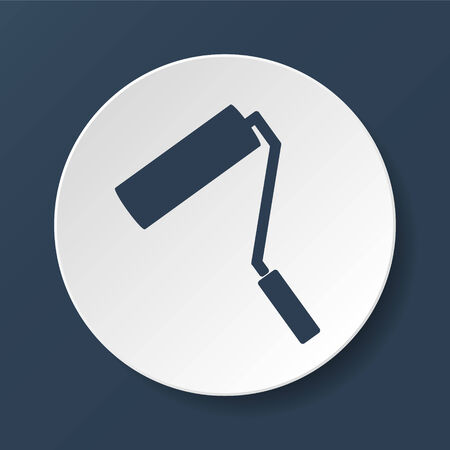 redecorate: Paint roller icon. Flat vector illustrator