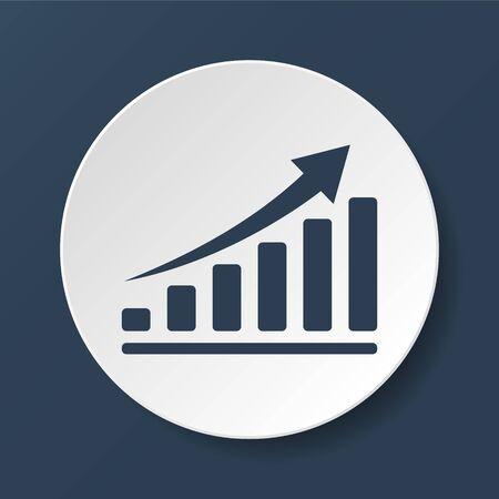 economic: Vector white economic icons. Illustrator