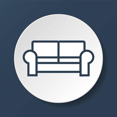 comfortable: Comfortable sofa Icons. Vector Illustrator.  Illustration