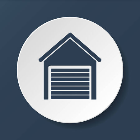 Garage icon. Flat vector illustrator Vector