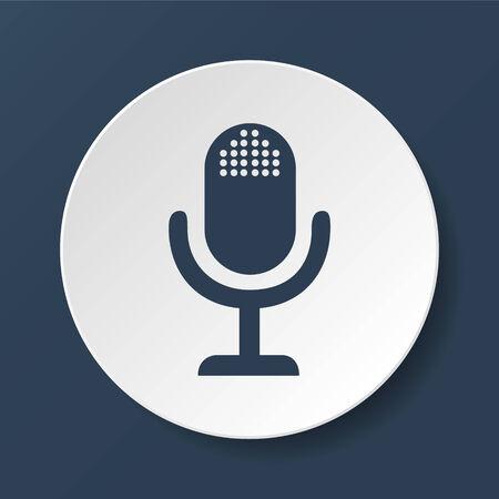 entertaining presentation: microphone web icon, flat design vector EPS Illustration