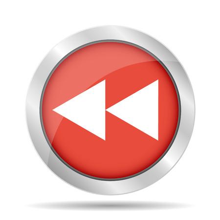 Glossy multimedia icon  forward vector  Vector