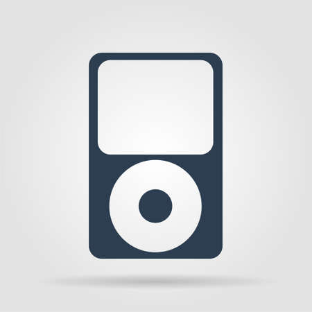 portable player: Portable media player icon. Flat design style.  Illustration