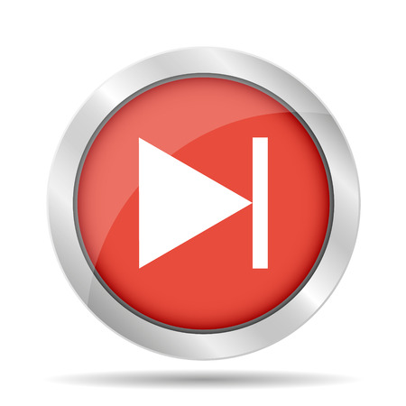 Glossy multimedia icon  next track vector Vector