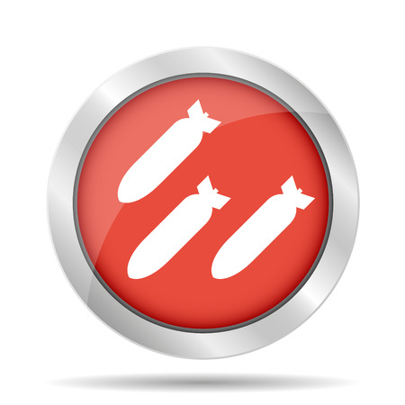 anti nuclear: Air bomb vector icon. Flat vector illustrator