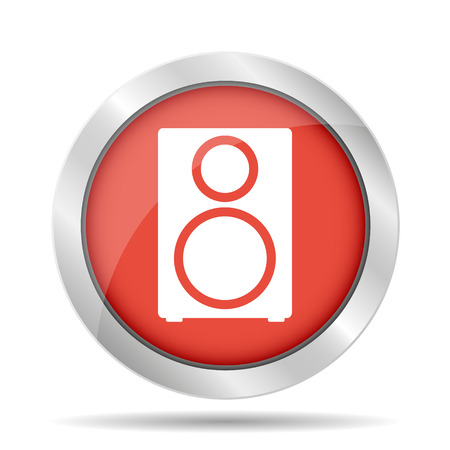sub woofer: column - vector icon Flat vector illustrator Illustration