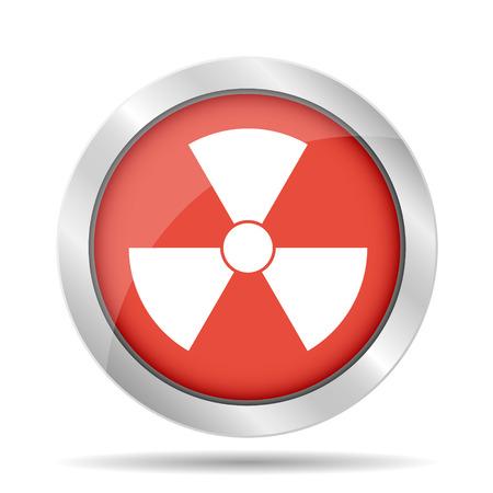 irradiation: radiation symbol. Flat vector illustrator Illustration