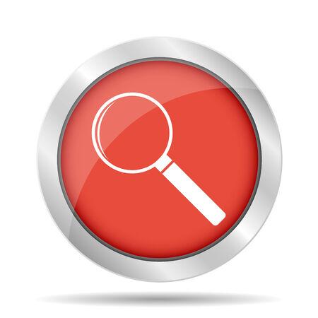 illustrator  vector: magnifier - vector icon. Flat  illustrator