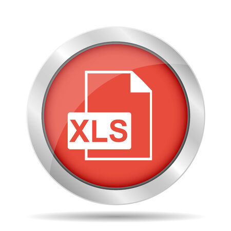 xls icon. Flat vector illustrator