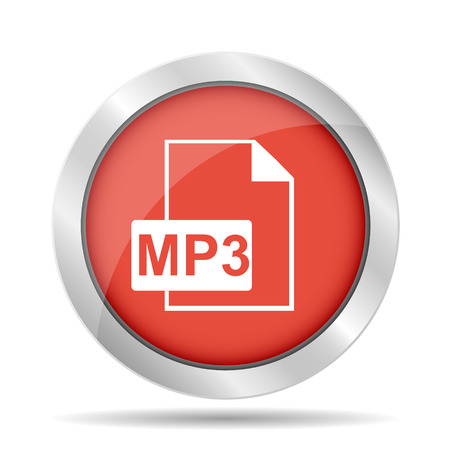 mp3: mp3 file icon. Flat vector illustrator Illustration