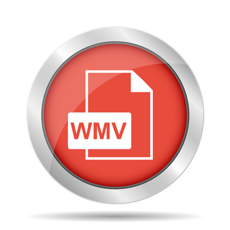 wmv: wmv file icon. Flat vector illustrator