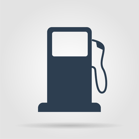 Gasoline pump nozzle sign. Gas station icon. Flat design style. Vector