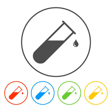 blood test: Medical Flat Icon Vector Pictogram.