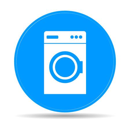 illustrator  vector: washing machine icon. Vector illustrator
