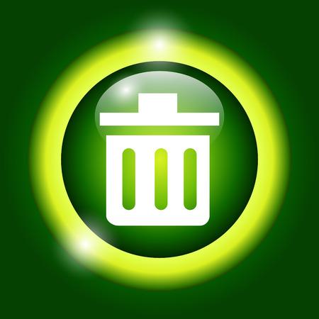 Trash can icon. Vector Illustrator. Illustration