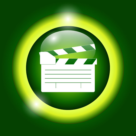 movie clapper: movie clapper board, movie maker vector. Illustrator Illustration