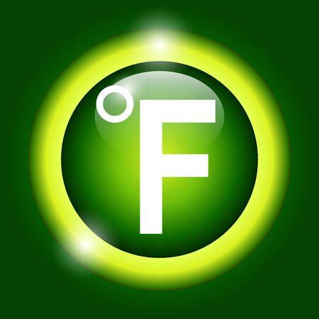 coldness: Vector icon Fahrenheit. Flat Illustrator Illustration